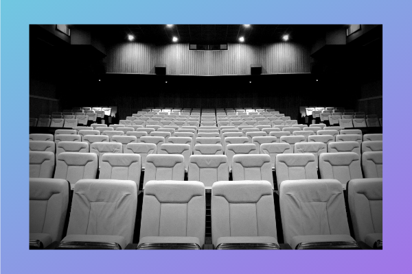 Audience chairs in theatre